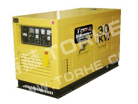 30千瓦(KW)水冷静音4缸单三相柴油发电机组