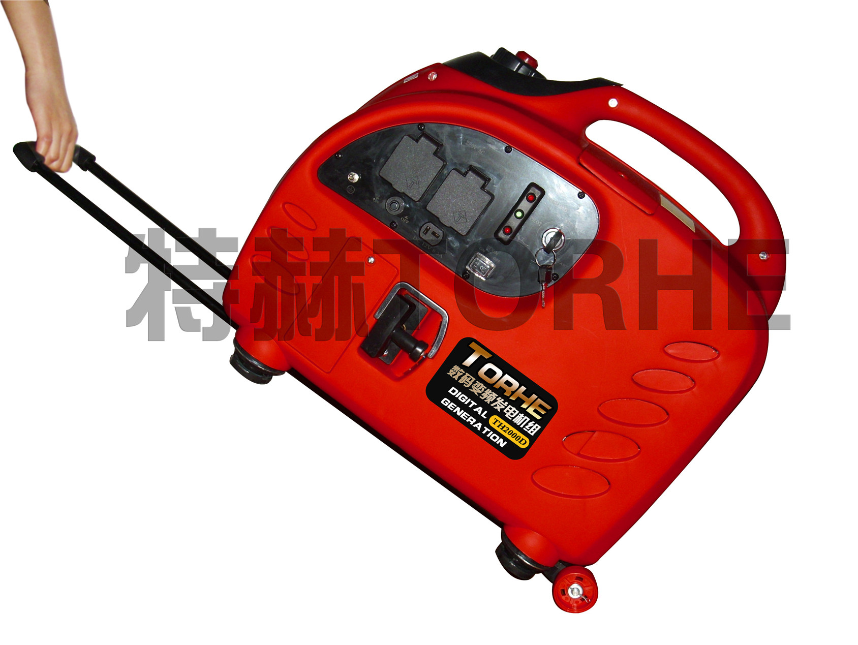 2KW手启动微型静音数码变频发电机组,野营车载汽油发电机
