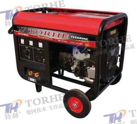 电启动300A汽油发电电焊一体机组,可焊接6.0焊条