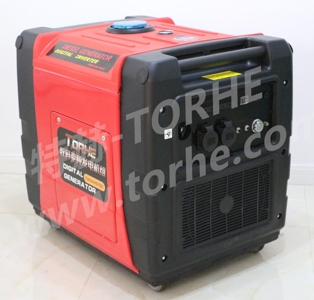 5KW柴油静音式数码变频发电机组 电启动