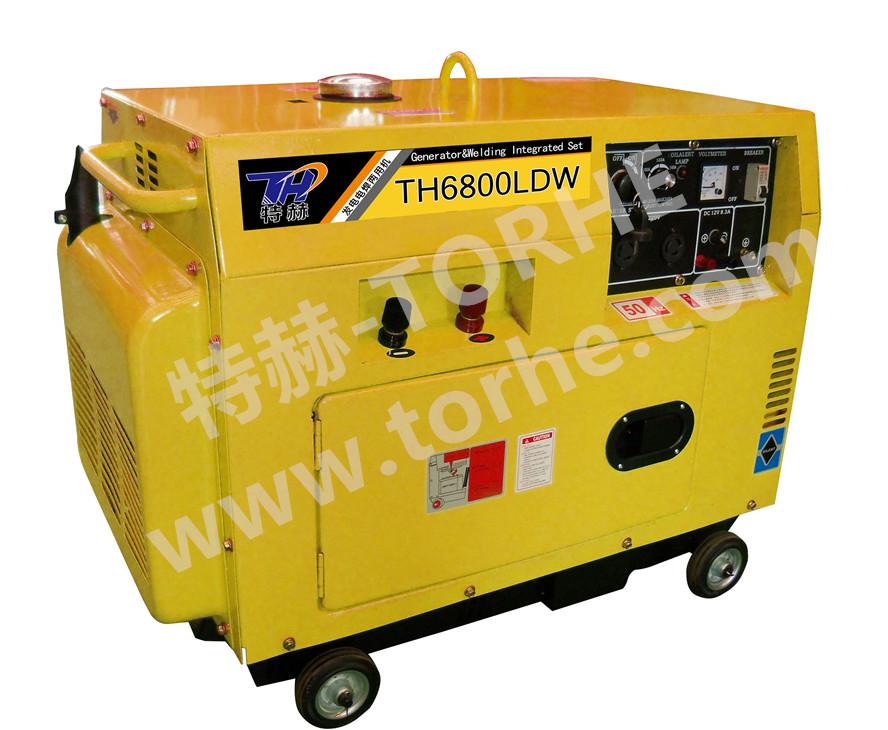 190A电启动静音式柴油发电电焊一体机组,可焊接4.0焊条