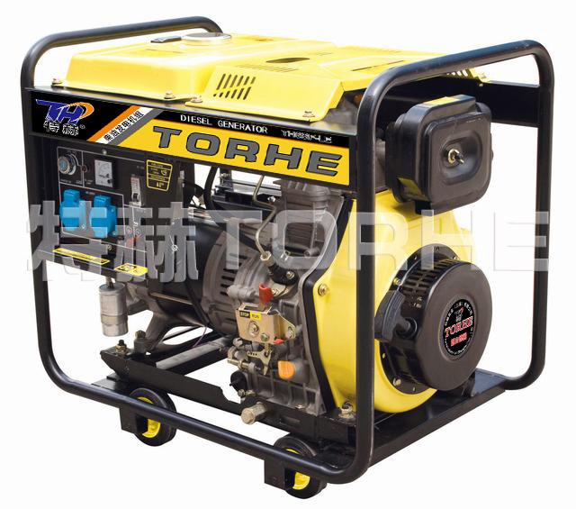 6KW单相电启动风冷低油耗柴油发电机组