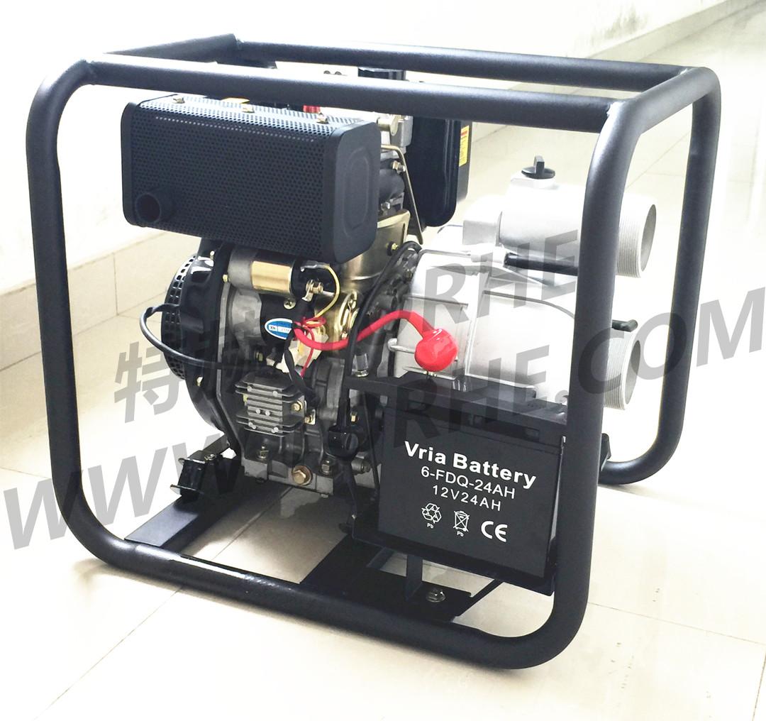 3寸柴油机污水泵 可加电启动抽水机